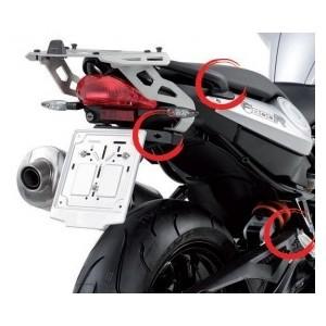 Portavaligie laterale tubolare ad aggancio rapido per valigie monokey per BMW f 800 r