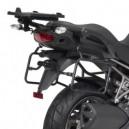 Portavaligie laterale tubolare ad aggancio rapido per valigie monokey Kawasaki versys 1000