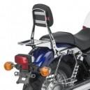 Schienalino con portapacchino asportabile cromato Givi per Honda vt 750 s