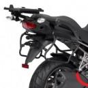 Portavaligie laterale tubolare ad aggancio rapido per valigie monokey side Kawasaki versys 1000