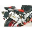 Terminali scarico racetech racing titanio dx+sx Aprilia rsv 1000 r 0407