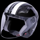 Casco jet Astone dj10 graphic exclusive stripes blach white