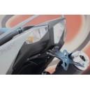 Portatarga regolabile Evotech Yamaha tmax 530 2012