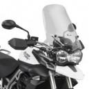 Cupolino moto Givi con attacchi specifici per Triumph tiger 800 e tiger 800 xc