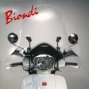 Schermo trasparente senza bordo con attacchi Biondi club per Honda ps 125 e 150