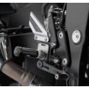 Pedane regolabili Rizoma con comandi arretrati Suzuki gsr750