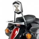 Schienalino con portapacchino asportabile per Honda vt SHADow 750
