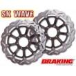 Dischi freno Braking wave anteriori a margherita per Yamaha r1 1000 e r6 600 - Foto 2