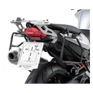 Portavaligia specifico in alluminio per valigie monokey sr691 per BMW f 800 r