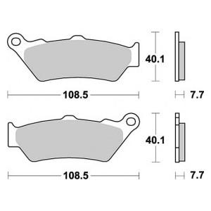 Pastiglia disco freno anteriore Braking per BMW e Morini mescola sport
