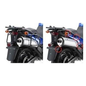 Portavaligie laterale tubolare ad aggancio rapido per valigie monokey Suzuki dl 650