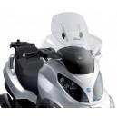 Parabrezza Givi scorrevole specifico trasparente con kit di attacchi per Piaggio mp3 125250400
