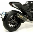 Terminale Arrow racetech approved carbonio Ducati diavel