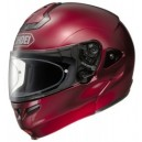 Casco modulare Shoei multitec wine red