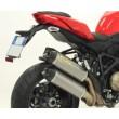 Terminali scarico Arrow in titanio racetech fondello carbonio Ducati streetfighter 1098 e 848