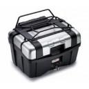 Portapacchino metallico nero Givi specifico per valigie trekker