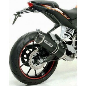 Terminale arrow thunder alluminio dark ktm duke 125