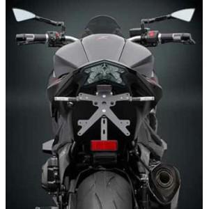 Porta targa regolabile nero Rizoma per Kawasaki Z800 2012