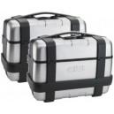 Set 2 valige Givi trekker trk46n nere con finitura in alluminio