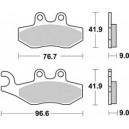 Pastiglia disco freno anteriore Braking per scooter Piaggio, Gilera e Peugeot  mescola polivalente