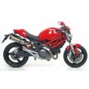 Terminali scarico omologati Arrow thunder in titanio fondello carby Ducati monster 696 e 796