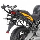 Portavaligie laterale tubolare ad aggancio rapido per valigie monokey® side Kawasaki versys 650