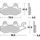Pastiglia disco freno posteriore Braking per scooter Kymco mescola sinterizzata scooter
