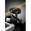 Specchietto Rizoma reverse retro nero per moto naked e sportive