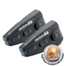Sistema bluetooth da casco interphone f4 stereo twin pack