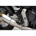 Pedane Rizoma con comandi arretrati regolabili con cuscinetti per Honda cb hornet f 600 07