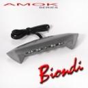 Luce targa alluminio spazzolato Biondi Honda transalp xlv 700