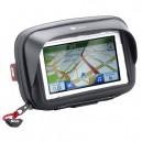 Porta navigatore e smarthphone da manubrio a sgancio rapido Givi S954
