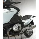 Kit coppia spoiler deflettori superiori e inferiori Isotta per BMW R1200RT 2010 Trasparenti