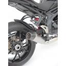 Silenziatore basso conico Zard per Triumph Speed Triple 2011 inox omologato