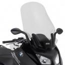 Parabrezza specifico Givi trasparente con paramani per BMW C600 Sport