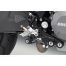 Pedane Rizoma con comandi arretrati regolabili con cuscinetti Ducati monster 696  1100  1100 s